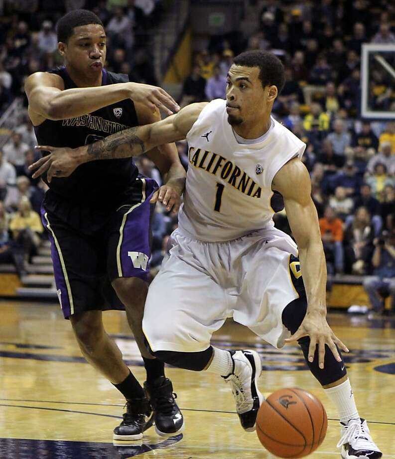 California guard Justin Cobbs (1) drives the ball down court in first half during an NCAA basketball game against Washington Wednesday Jan 9, 1013, in Berkeley California. Photo: Lance Iversen, The Chronicle