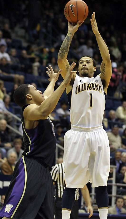 California guard Justin Cobbs (1) shoots in the first half during an NCAA basketball game against Washington Wednesday Jan 9, 1013, in Berkeley California. Photo: Lance Iversen, The Chronicle