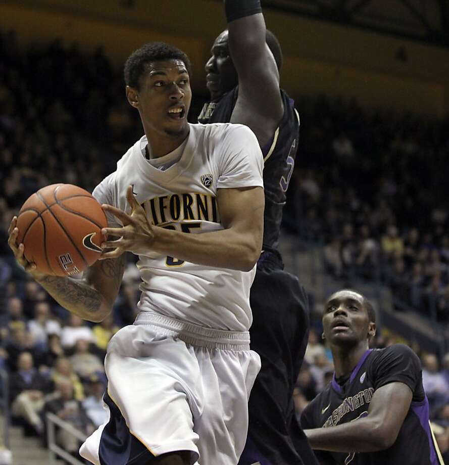 California forward Rachard Solomon (35) drives to the basket in the first half during an NCAA basketball game against Washington Wednesday Jan 9, 1013, in Berkeley California. Photo: Lance Iversen, The Chronicle