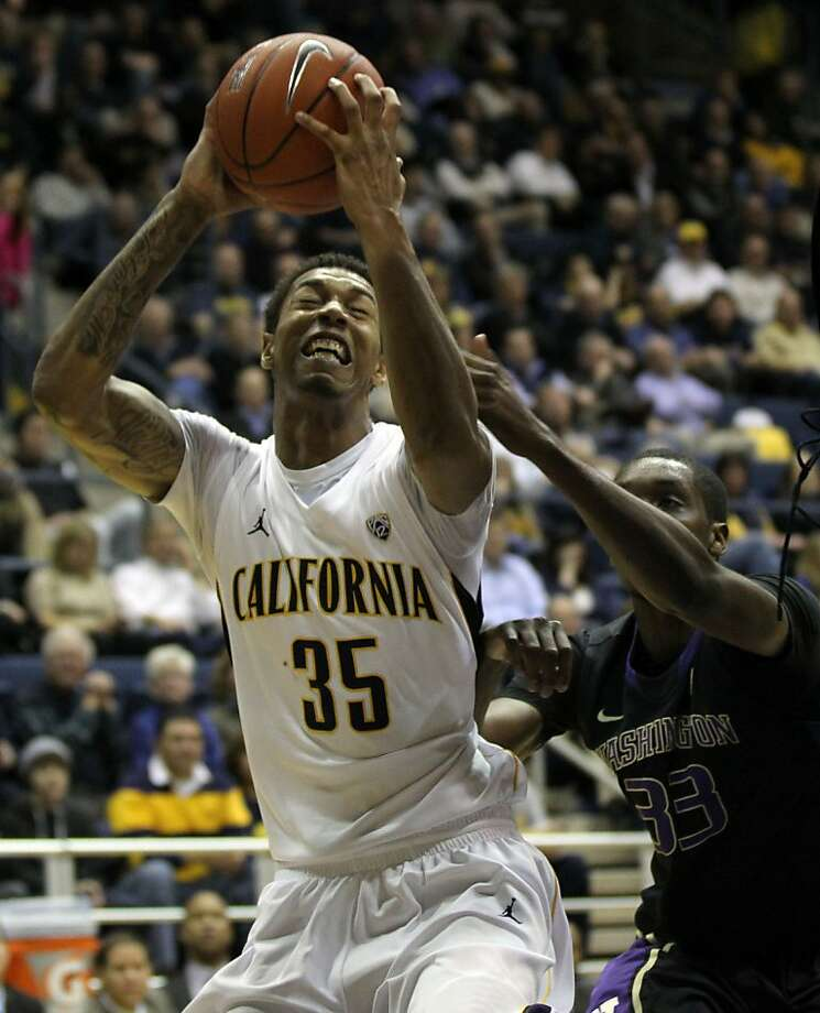 California forward Richard Solomon (35) shoots in the first half during an NCAA basketball game against Washington Wednesday Jan 9, 1013, in Berkeley California. Photo: Lance Iversen, The Chronicle