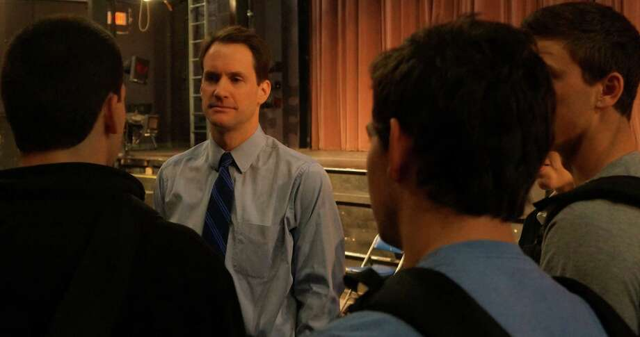 U.S. Rep. Jim Himes, D-4, talks Wednesday with Staples High School students after a presentation to the school's Advanced Placement Government class.  Westport CT 1/9/13 Photo: Paul Schott / Westport News