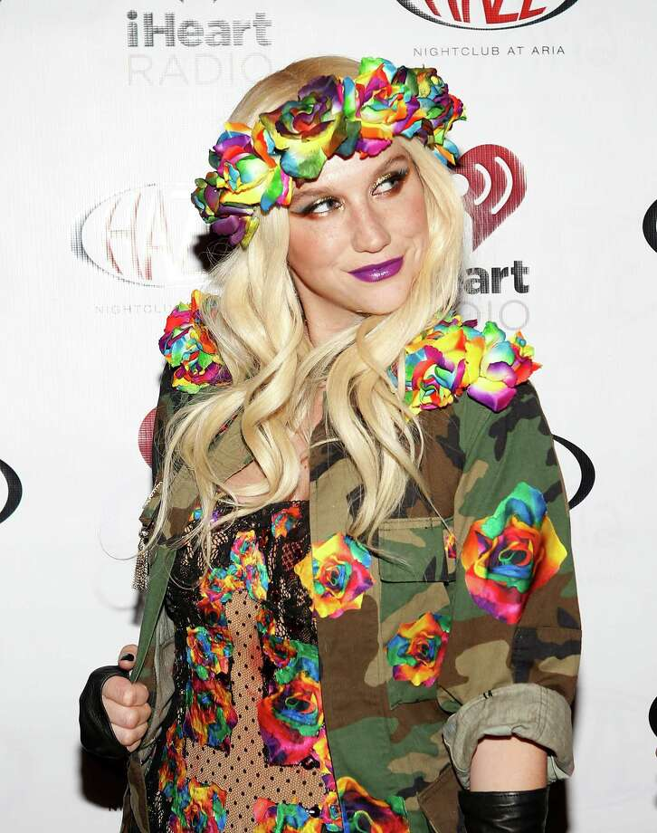 LAS VEGAS - JANUARY 9:  Ke$ha arrives at the iHeartRadio CES exclusive party for a performance at Haze Nightclub at the Aria Resort & Casino at CityCenter on January 9, 2013 in Las Vegas, Nevada. Photo: Isaac Brekken, Getty Images For Clear Channel / 2013 Getty Images