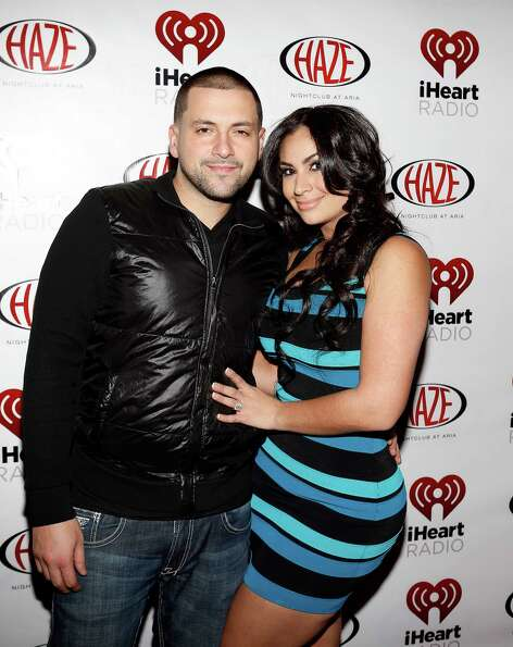 LAS VEGAS - JANUARY 9:  DJ Prostyles (L) and Shreen Ayesh arrive at the iHeartRadio CES exclusive pa