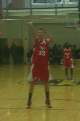 Fairfield Prep forward Tim Butala attempts a free throw during the Jesuits' win Tuesday in New Haven. Butala led all scorers with 23 points. Photo: Contributed Photo