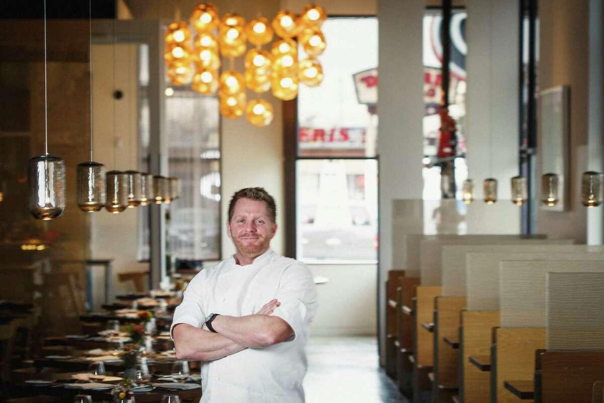 Chef Ryan Hildebrand poses for a photo at his restaurant, Triniti, Thursday, Jan. 3, 2013, in Houston. Triniti just marked its first anniversary. ( Michael Paulsen / Houston Chronicle )