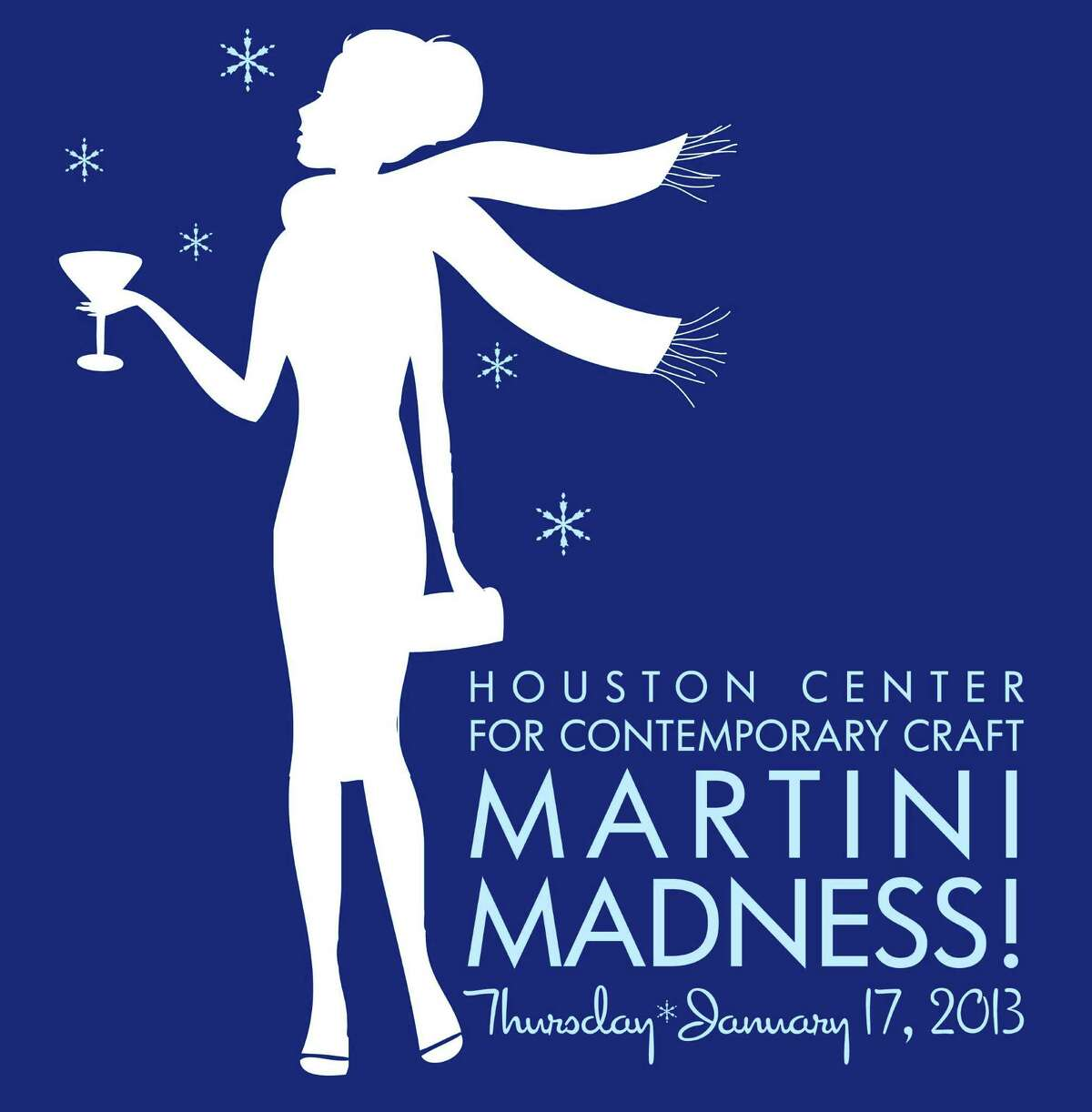 """Houston Center for Contemporary Craft's annual """"Martini Madness"""" party is January 17."""