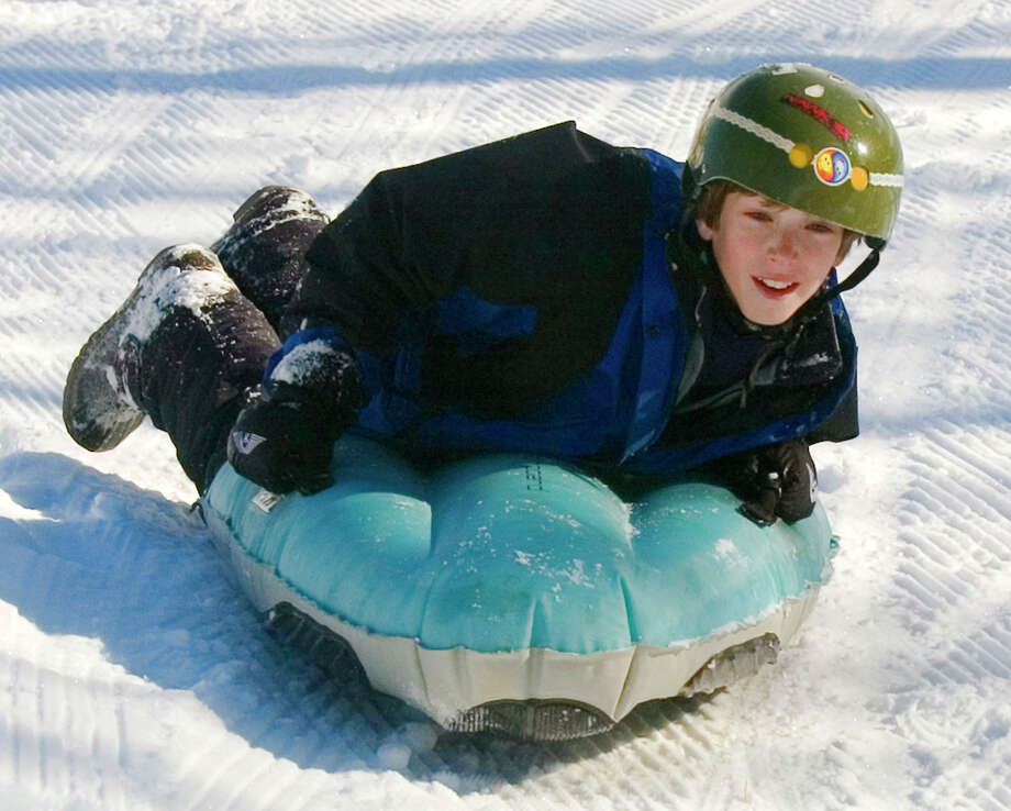 AirboardingThese sleds can reach up to 60 mph and are probably a lot less bumpy than a plastic saucer (seeing as how it's inflatable). They have plastic runners on the bottom and can be steered by shifting your body weight. Photo: PAUL CONRAD, STR / AP