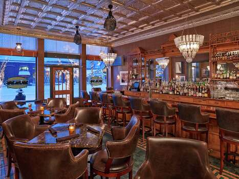 "The J-Bar at the newly reopened Hotel Jerome in Aspen has played host to many celebrities and late nights over the years. The late ""gonzo"" writer Hunter S. Thompson was a regular, calling the bar his ""office."" / Auberge Resorts"