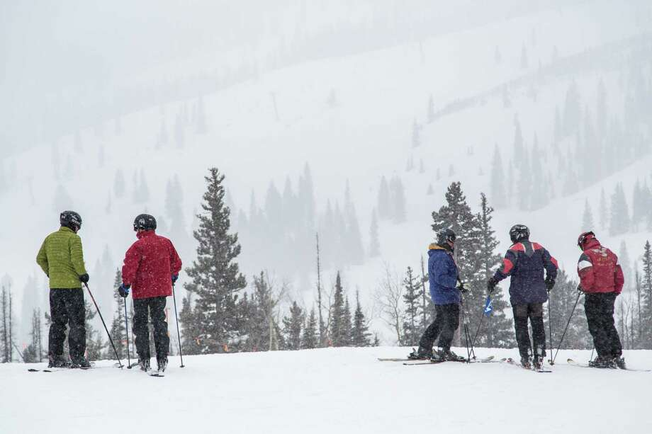 Skiers at Snowmass ski resort Saturday, Dec. 8, 2012, in Aspen. ( Michael Paulsen / Houston Chronicle ) Photo: Michael Paulsen, Staff / © 2012 Houston Chronicle
