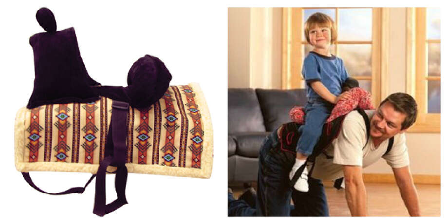 The Daddle: Every kid likes to play horsey with dad and that's why you need this special saddle to put on his back. (Note: This is a Western saddle and not recommended for those kids who prefer to ride English.) Ride 'em cowboy! (Cashel)