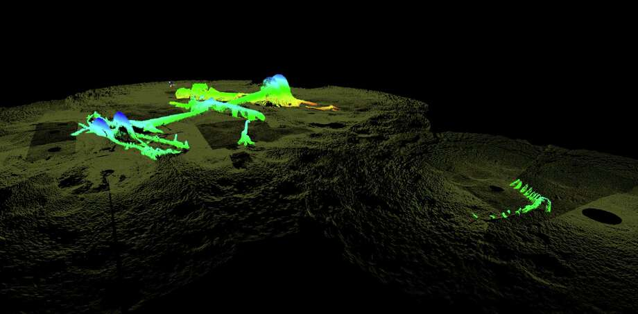 These high-resolution sonar images of the wreck made last September were released to the Houston Chronicle by the National Oceanic and Atmospheric Administration. Photo credit: National Oceanic and Atmospheric Administration.