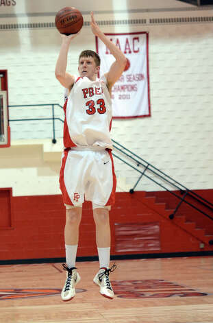 Fairfield Prep's Tim Butala, seen in action last season, scored 23 points Tuesday night to pace the Jesuits to their first-ever win over Career Magnate. Photo: Amy Mortensen