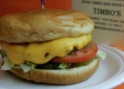 Timbo's, 1639 Broadway at Pearl Parkway: Start with an order of Shypoke eggs, a nod to Little Hipps, and then it's back to basics on the burger with fresh veggie toppings and mayonnaise or mustard on a toasted bun. www.timbosburgers.com Photo: KEVIN GEIL, SAN ANTONIO EXPRESS-NEWS / SAN ANTON IO EXPRESS-NEWS