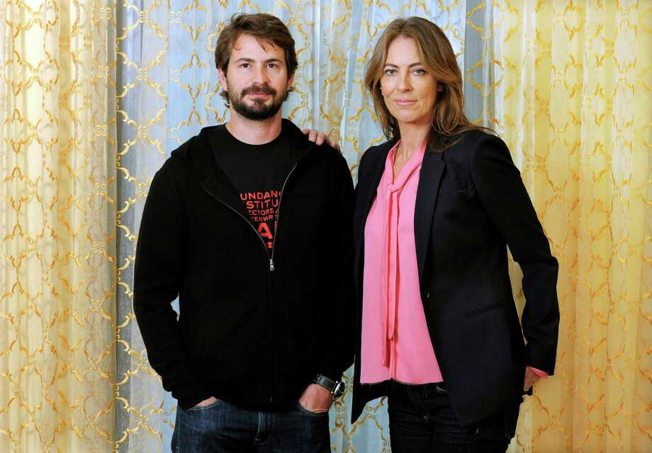 "FILE - This Dec. 10, 2012 file photo shows screenwriter Mark Boal, left, and director Kathryn Bigelow during a photo call for their film ""Zero Dark Thirty,"" in Beverly Hills, Calif. The film was nominated for an Academy Award and Boal was nominated for best original screenplay but Bigelow was not nominated for best director. (Photo by Chris Pizzello/Invision/AP, file) Photo: Chris Pizzello"