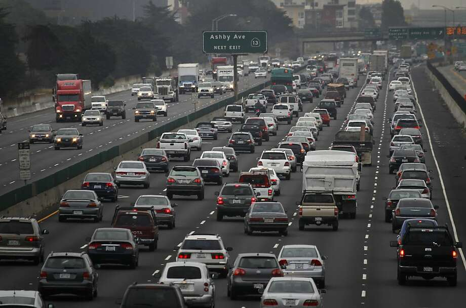 Backups like this boosted the S.F. area to third place in a congestion survey. Photo: Paul Chinn, The Chronicle