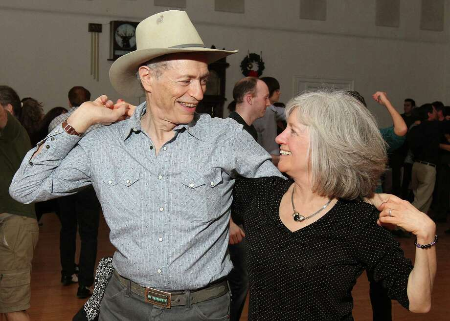 Albany, NY - January 4, 2012 - (Photo by Joe Putrock/Special to the Times Union) - Barry Koffler(left) dances with one of the event organizers, Janice Joyce(right), during the Albany First Friday Capital Swing Dance presented by DanceFlurry. Photo: Joe Putrock / Joe Putrock