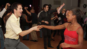 Albany, NY - January 4, 2012 - (Photo by Joe Putrock/Special to the Times Union) - Josh Merlis(left) and Jennifer Drummond(right) looked young, but danced like seasoned veterans during the Albany First Friday Capital Swing Dance presented by DanceFlurry.
