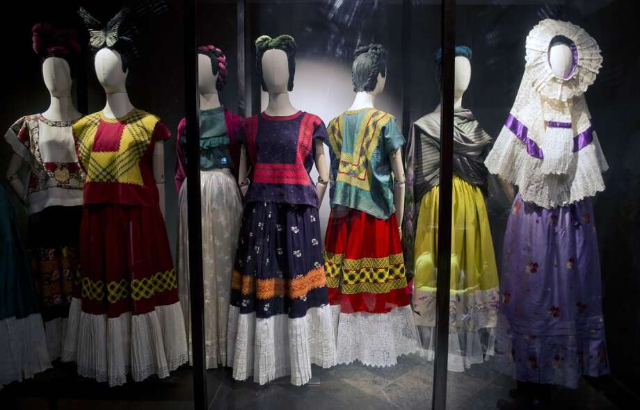 Frida's Dresses Currently on display at the Frida Kahlo Museum in Mexico City