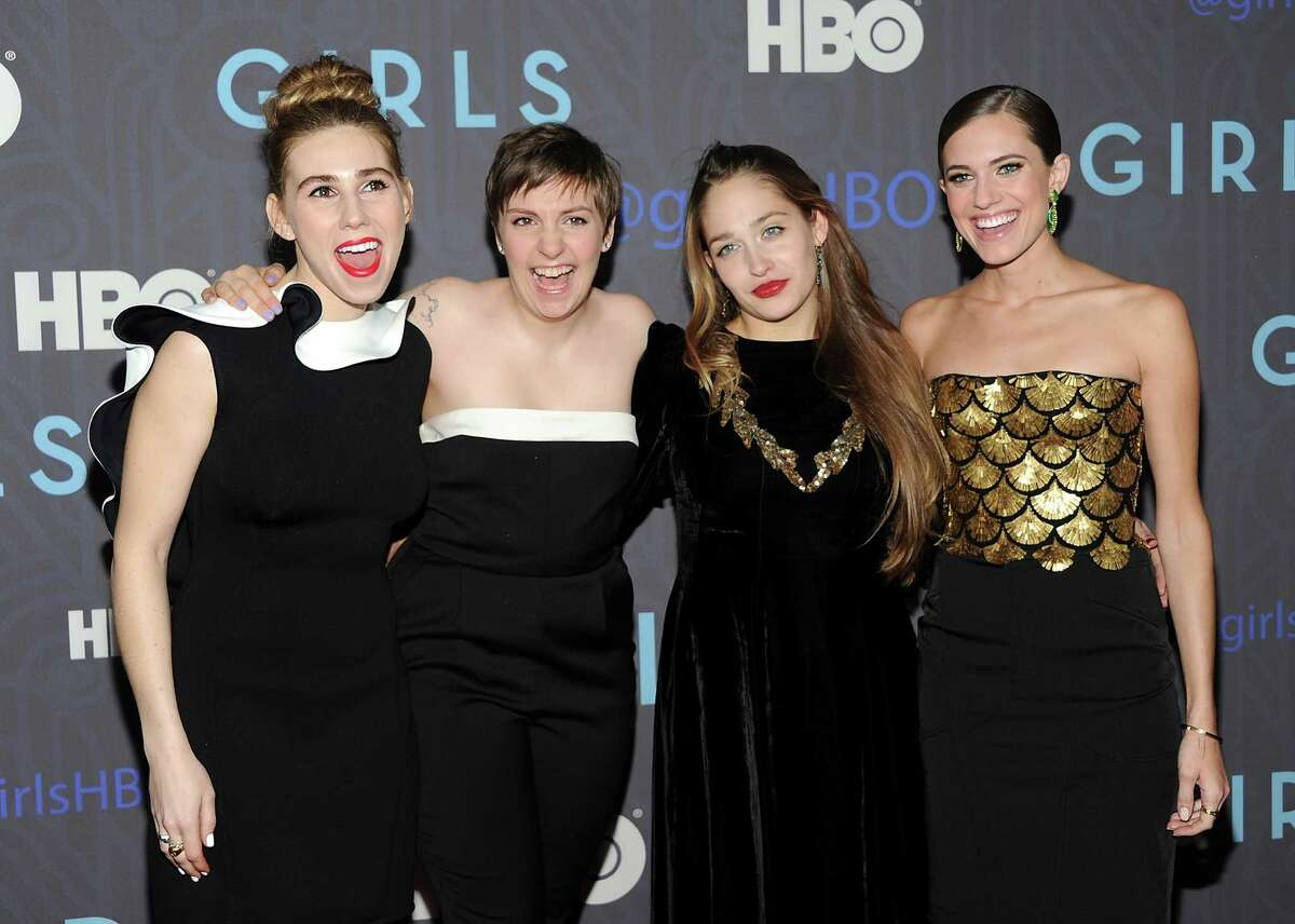 Cast members, from left, Zosia Mamet, Lena Dunham, Jemima Kirke and Allison Williams attend the HBO premiere of