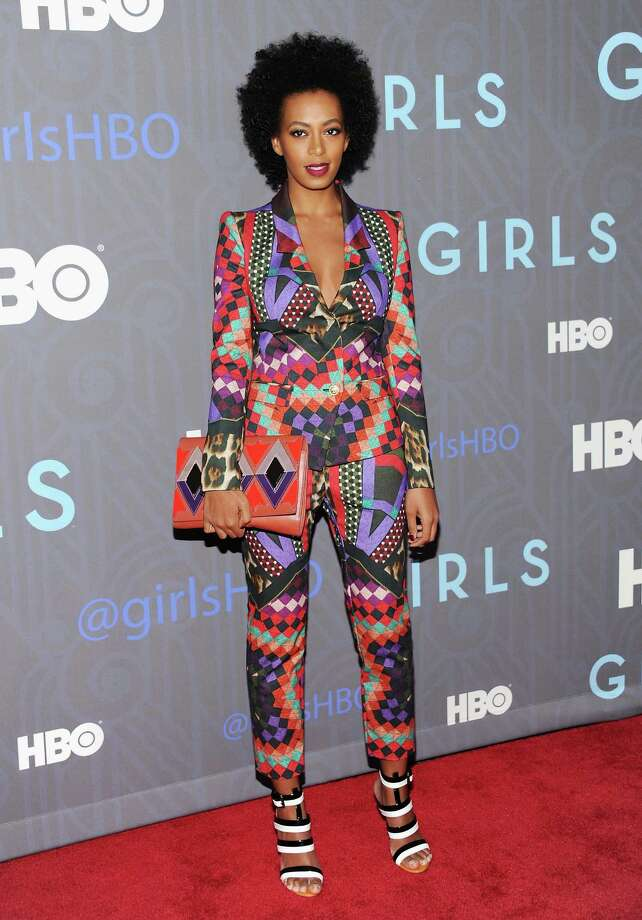 "Singer Solange Knowles attends the HBO premiere of ""Girls"" at the NYU Skirball Center on Wednesday, Jan. 9, 2013 in New York. Photo: Evan Agostini, Evan Agostini/Invision/AP / Invision"