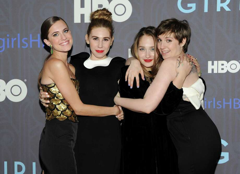 "Cast members, from left, Allison Williams, Zosia Mamet, Jemima Kirke and Lena Dunham, attend the HBO premiere of ""Girls"" at the NYU Skirball Center on Wednesday, Jan. 9, 2013 in New York. Photo: Evan Agostini, Evan Agostini/Invision/AP / Invision"