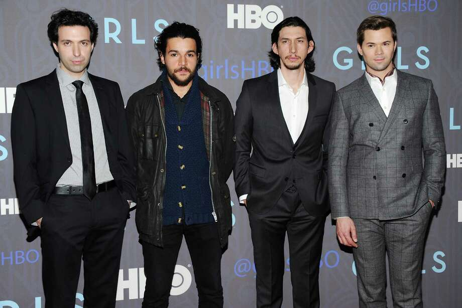 "Cast members, from left, Alex Karpovsky, Christopher Abbott, Adam Driver and Andrew Rannells attend the HBO premiere of ""Girls"" at the NYU Skirball Center on Wednesday, Jan. 9, 2013 in New York. Photo: Evan Agostini, Evan Agostini/Invision/AP / Invision"