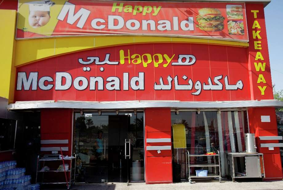 This is a fake McDonald's in Baghdad, Iraq. Photo: Karim Kadim, Associated Press / AP