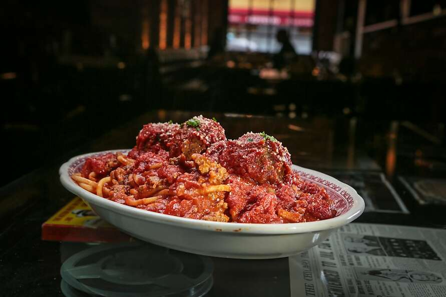 The spaghetti and meatballs have noodles of substance that are chewy enough to stand up to the chunk