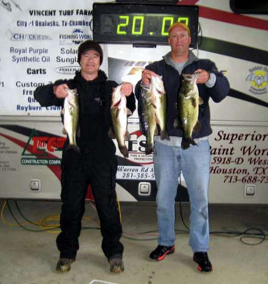 Ben Vaughn & Michael Latham won the tournament with their impressive bag of fish that weighed 20.00 pounds even!!