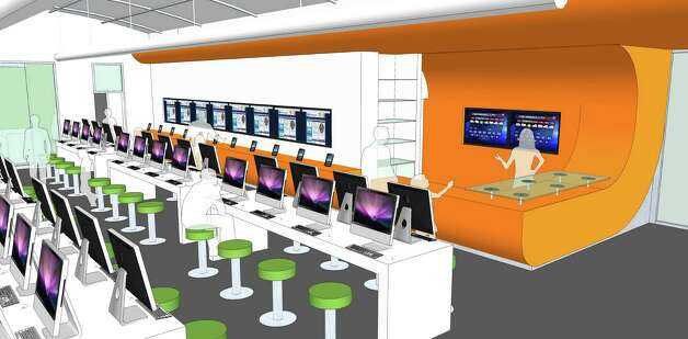 Interior view of BiblioTech, a bookless library planned for 3505 PleasantonRoad. Bexar County plans to open the library in the fall. Photo: Courtesy Illustration
