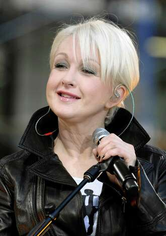 "Recording artist Cyndi Lauper performs on ABC's ""Good Morning America"" show in Bryant Park on Friday, June 13, 2008, in New York. (AP Photo/Peter Kramer) Photo: Peter Kramer, Associated Press / KRAPE"
