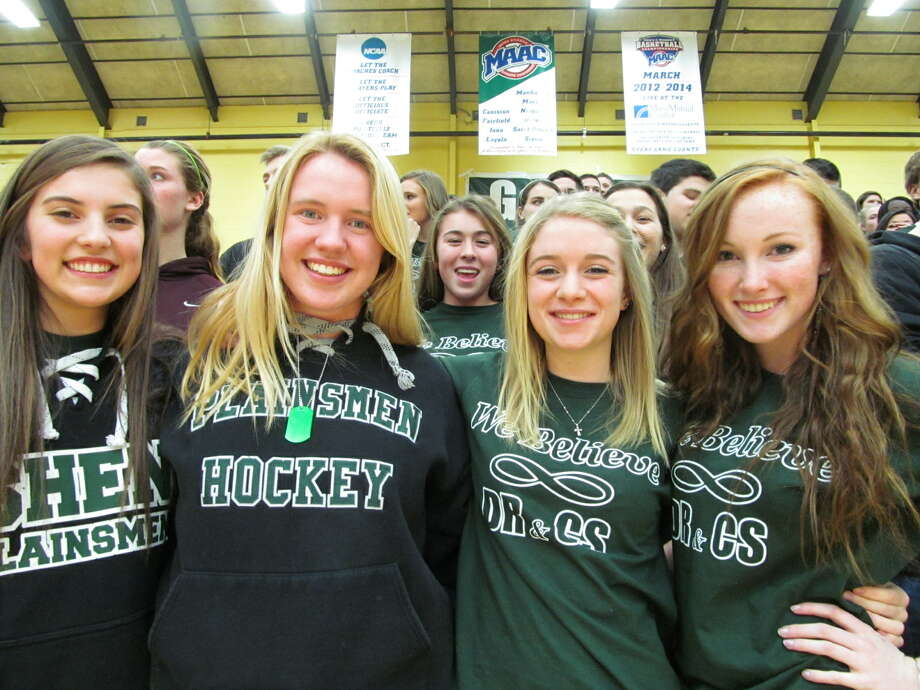 Were you Seen at the Shenendehowa and Shaker basketball games at the Siena College Alumni Recreation Center on Thursday, January 10, 2013? The proceeds from those two games, plus the sale of T-shirts, went toward the memorial scholarship funds of Christopher F. Stewart and Deanna M. Rivers. Photo: Kristi Gustafson Barlette/Times Union