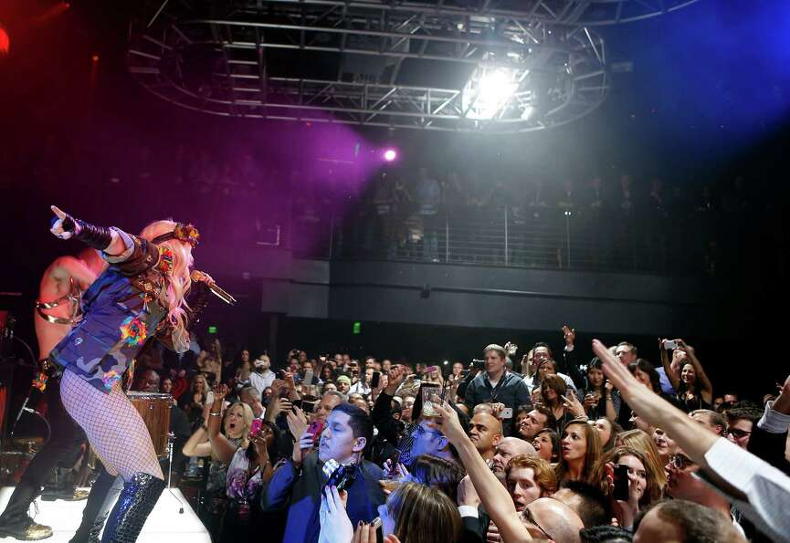 LAS VEGAS - JANUARY 9:  Ke$ha performs at the iHeartRadio CES exclusive party at Haze Nightclub at t