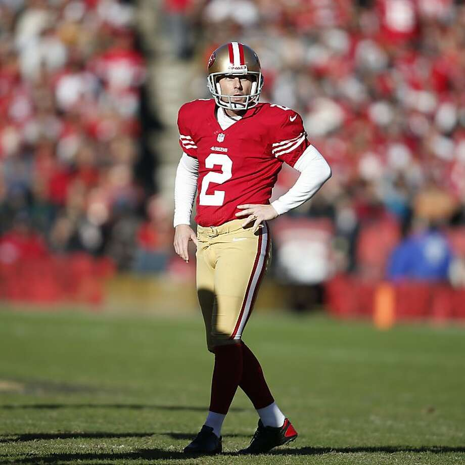David Akers is still the man for the 49ers, shaky season and all. Photo: Stephen Lam, Special To The Chronicle