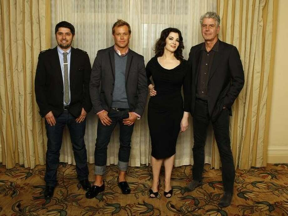 TCA WINTER PRESS TOUR 2013 - The Taste - The cast and producers of ABC's The Taste addressed the press at Disney | ABC Television Group's Winter Press Tour 2013. (ABC/RICK ROWELL)LUDOVIC LEFEBVRE, BRIAN MALARKEY, NIGELLA LAWSON, ANTHONY BOURDAIN Photo: Rick Rowell, ABC / © 2013 American Broadcasting Companies, Inc. All rights reserved.