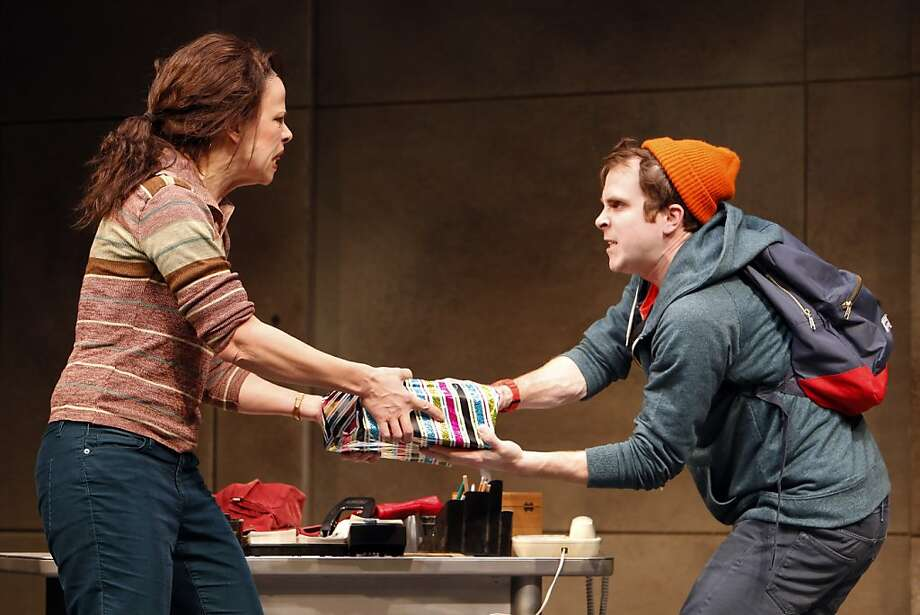 "Jennifer Regan as Patricia Boatright, left, and Gabriel King as Bradley Boatright, right, in the world premiere of ""Troublemaker"" at Berkeley Repertory Theater by Dan LeFranc in Berkeley, Calif., on Thursday, January 3, 2013. LeFranc is a hot young playwright in NY and this is the first play to emerge from Berkeley Rep's Ground Floor development lab. Photo: Carlos Avila Gonzalez, The Chronicle"