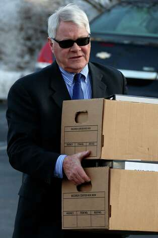Prosecutor Joseph McGettigan III arrives at the courthouse for a Jerry Sandusky hearing at the Centre County Courthouse, in Bellefonte, Pa., Thursday, Jan. 10, 2013. The hearing is expected to delve into the legal challenges filed by Sandusky's lawyers, including their claim that a deluge of prosecution materials swamped the defense. Sandusky is serving a 30- to 60-year prison sentence after being convicted in June of 45 counts of child sexual abuse. (AP Photo/Gene J. Puskar) Photo: Gene J. Puskar