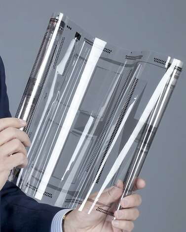 The International Consumer Electronics Show features a paper-thin and bendable touch sensor called XSense, under development by Atmel Corp. Photo: -, Atmel Corporation
