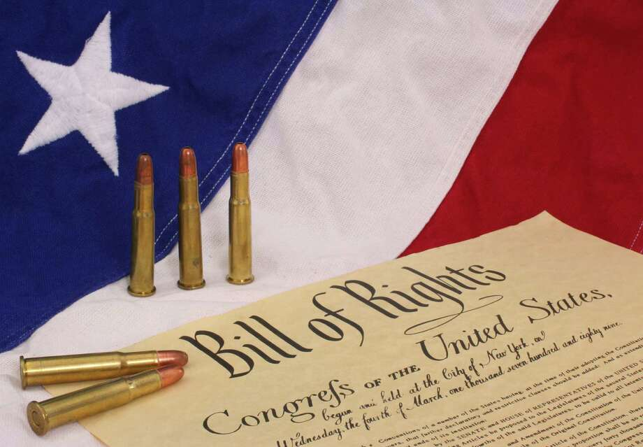 Bill of Rights With Bullets and American Flag Photo: Lori Martin / Lori Martin - Fotolia
