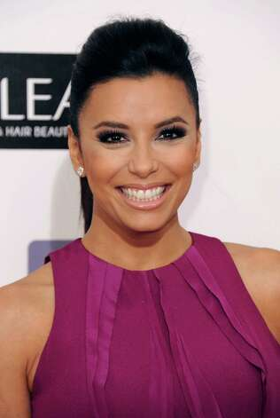 Eva Longoria arrives. Photo: Jordan Strauss/Invision/AP