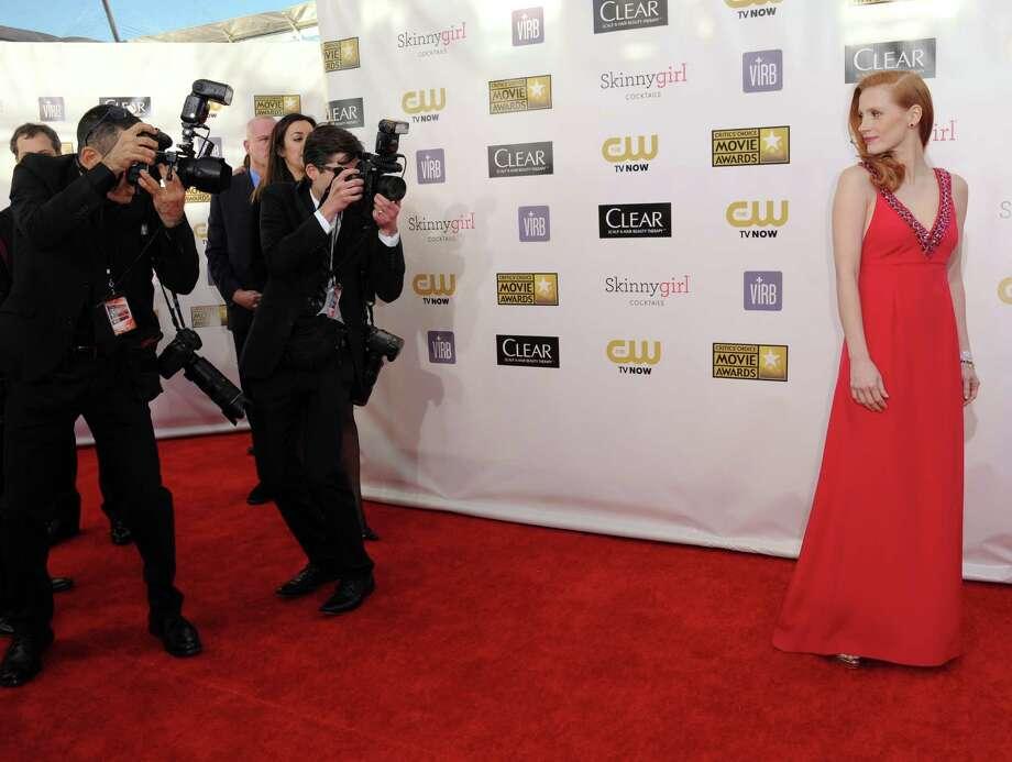 Jessica Chastain arrives. Photo: Jordan Strauss/Invision/AP
