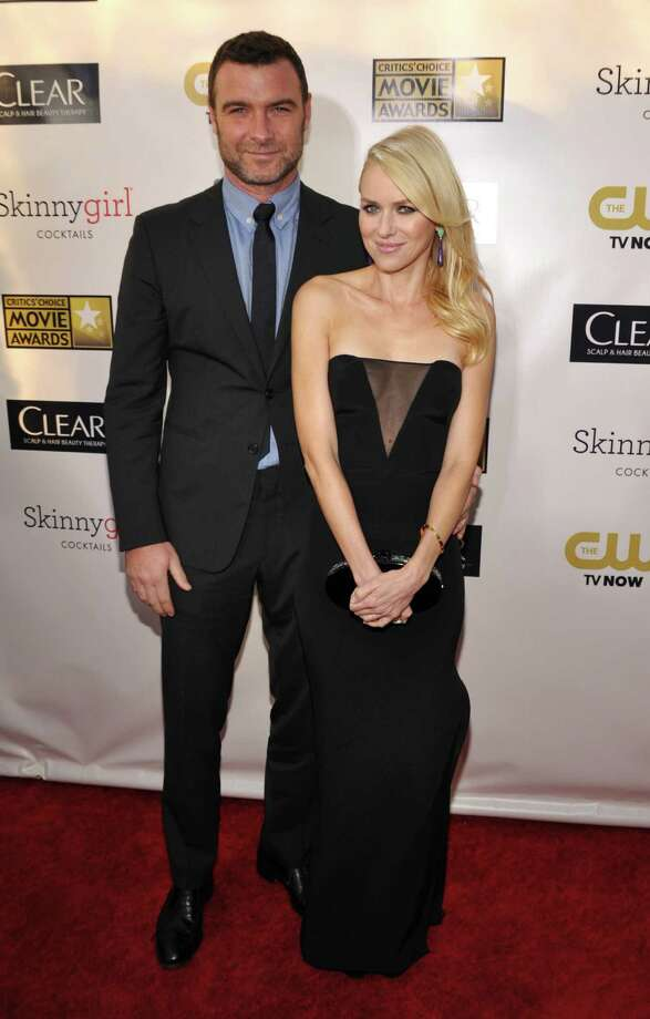 Liev Schreiber, left, and Naomi Watts arrive. Photo: John Shearer/Invision/AP