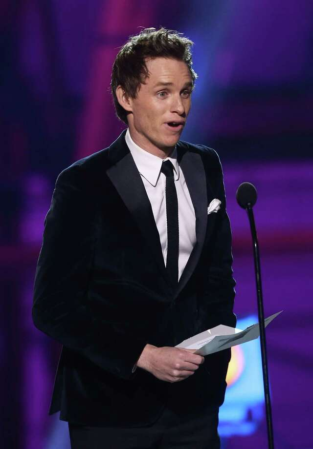 Eddie Redmayne presents the award for best supporting actress. Photo: Matt Sayles/Invision/AP