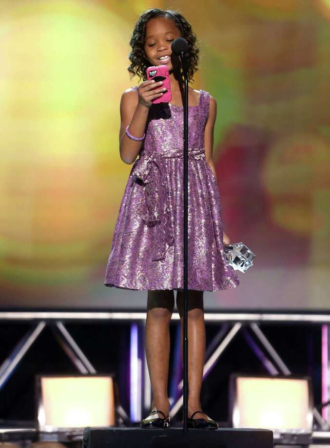 "Quvenzhane Wallis accepts the award for best young actress for ""Beasts of the Southern Wild."" Photo: Matt Sayles/Invision/AP"