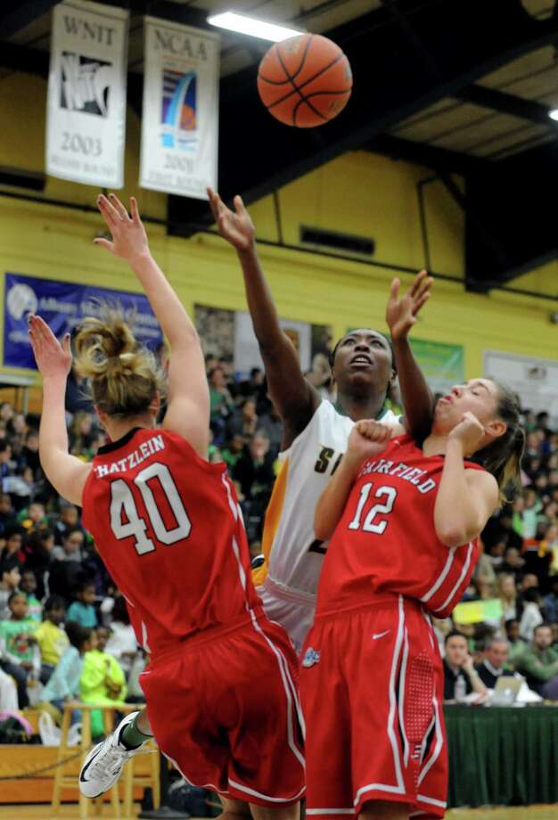 Siena's Tehresa Coles puts up a shot during a midday game against Fairfield Thursday, Jan. 10, 2013, in Loudonville, N.Y. (Michael P. Farrell/Times Union) Photo: Michael P. Farrell