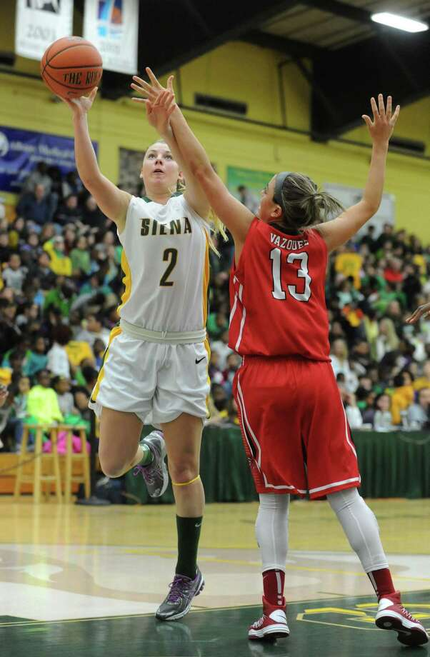 Siena's Ciara Stewart puts up a shot during a midday game against Fairfield Thursday, Jan. 10, 2013, in Loudonville, N.Y. (Michael P. Farrell/Times Union) Photo: Michael P. Farrell