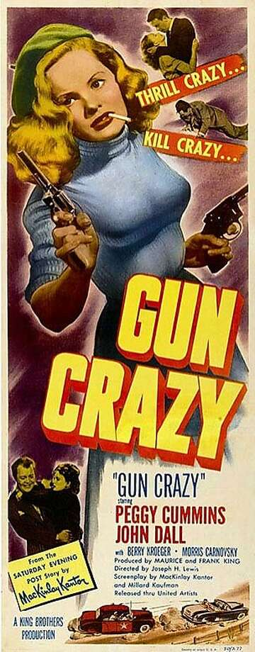 "Peggy Cummins adorns a 1950 poster of ""Gun Crazy,"" now a cult classic. Photo: S.F. Film Noir Festival"