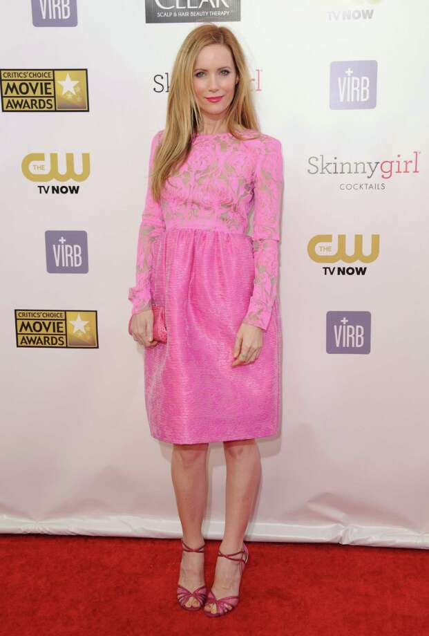 Leslie Mann arrives. Photo: Jordan Strauss/Invision/AP
