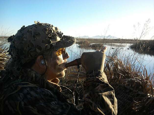 Ed Migale, shown in a Sacramento Valley duck blind, is known for innovating fishing techniques. Photo: Tom Stienstra, The Chronicle