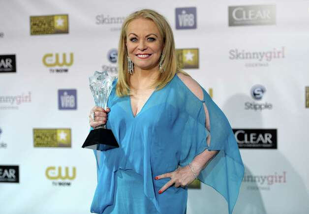 "Jacki Weaver poses backstage with the award for best comedy movie for ""Silver Linings Playbook."" Photo: John Shearer/Invision/AP"